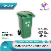 [KHUSUS GOJEK/GRAB] Green Leaf Tempat Sampah Besar Kotak + Roda 120L