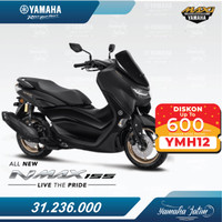 Yamaha All New Nmax 155 Standard Version Lombok - Hitam