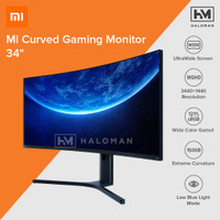 Xiaomi Ultra Wide Curved Gaming Monitor 1440P 144Hz Free-Sync 34 Inch