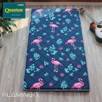 Kasur Lipat Quantum / Travel Bed / Kasur Gulung 100cm x 195cm Ori - Flamingo