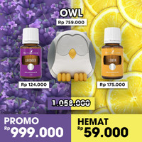 paket owl diffuser young living with 4 oil