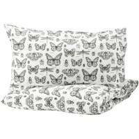 Ikea Sarung quilt kupu-kupu, sarung bantal