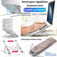 Laptop Stand Lipat Notebook Holder Adjust Height Tinggi 7 Level Besi