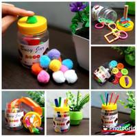 Busy Jar Montessori 6 in 1 Lengkap - Mainan Edukasi Anak