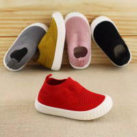 HQ Knitty Fabric Shoes Prewalker / Sepatu Anti Slip Anak Bayi - Mustard, 24