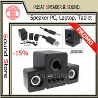 Speaker Komputer PC Laptop Multimedia mini Stereo 2.1 Subwoofer USB