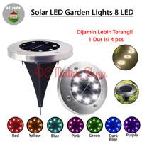 Lampu Taman/Garden Solar tanam tancap pavling bulat tenaga surya 8 LED