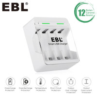 EBL Charger AA / AAA Ni-MH Rechargeable Batteries with 4-Bay AA AAA In