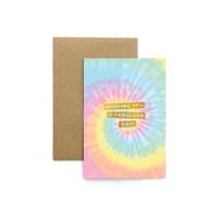 Kartu Ucapan / Greeting Card Harvest Rainbow Tie Dye - Fabulous