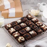 Gift Box/Hampers Brownies/Brownis Coklat Fudgy Sekat Shiny Crust