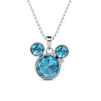 Minnie Pendant - Kalung Crystal Swarovski by Her Jewellery