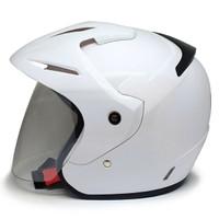 EROE M1 Helm SNI Open Face, Warna CLASSIC Solid, Clear Coat - Alpine White, L 59-60cm