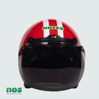 Nussa - X Marzano Arzo Helm Stripe Junior (7tahun Keatas) - Merah