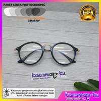 Kacamata Minus Korea Retro 3449 Lensa Photocromic Antiradiasi UV