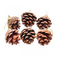 Hiasan Pinus Klasik isi 6/gantungan Natal/Dekorasi Pohon Natal/Hiasan