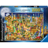 RAVENSBURGER - WORLD LANDMARK BY NIGHT PUZZLE 1000 PCS