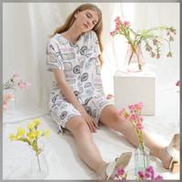 Varra Set in Cloudy - Sleepwear / Piyama Baju Tidur Rayon by RAHA