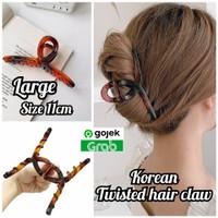 jepit twisted leopard hairclaw korea