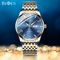 BIDEN jam tangan pria Mewah Bisnis Klasik Tahan Air Kuarsa jam tangan