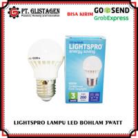 Lampu LED Putih Lightspro 3 Watt Bohlam LED Rumah