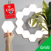Lampu Dekorasi Dinding Quantum LED Lamp Modular Hexagon Touch 3 PCS
