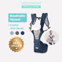 MOOIMOM Breathable Hipseat Carrier Gendongan Bayi - Denim Blue