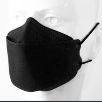 Masker KF 94 4ply 3D Evo Plusmed convex isi 10 Hitam