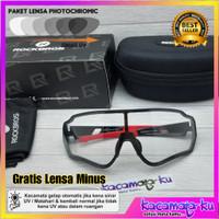 Kacamata Gowes Sepeda Mata Minus Photocromic UV Rockbros Original