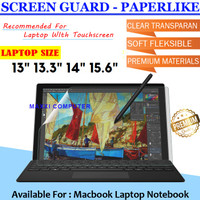 Paperlike Screen Guard Anti Gores Laptop Macbook Asus Acer HP Dell Dll - 13.3