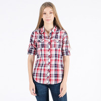 Kemeja Lengan Panjang / Red Tartan Shirt 24020P5WR - 10PM