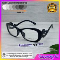 Kacamata Baca Wanita Minus Plus Keong Lensa Photocromic/Blueray