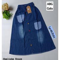 Rok Jeans Panjang Anak Murah size XXL (8-11 thn)