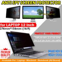 Laptop 12 inch Privacy Screen Guard Protector Anti Gores Spy Antigores - Antispy