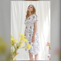 Kallie Nightdress in Cloudy - Piyama / Daster Rayon Premium by RAHA