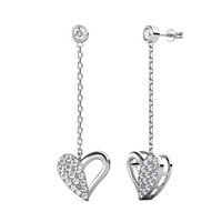 L'Amour Dangling Earrings - Anting Crystal Swarovski by Her Jewellery
