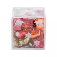 Hiasan Mix Kotak Pita Isi 22 Mix Red Gold-Gantungan Natal