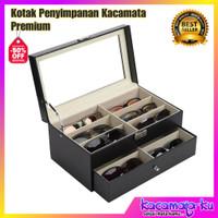 Kotak Penyimpanan Kacamata Premium Bisa Simpan 12 Kacamata/Sunglass
