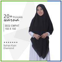 Jilbab Segi Empat 150 x 150 Jumbo Diamond Syari