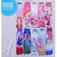 Kaos kaki anak TK SD printing LOL; Princes Ana Elsa frozen sofia