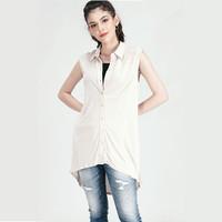Kaos Wanita / Campana Cream Tee 11154L9CM - Logo Jeans