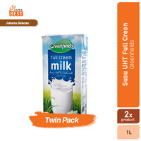 Susu UHT Full Cream Greenfields 1 L - Twin Pack