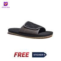 Sendal Pria Rumah Slip On Footstep Footwear - Comfy Black Grey