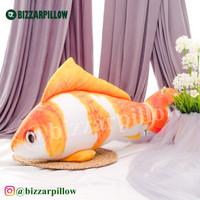 Bantal Bentuk Ikan Koi Bantal Ikan Untuk Kucing Boneka Bantal Ikan - XL-oren
