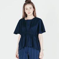 Blouse Wanita / Loubelly Navy Shirt 22493D5NA - Ninety Degrees