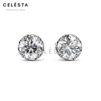 Le Fleur Earring - Anting Moissanite diamond Celesta by Her Jewellery