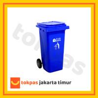 Tempat Sampah Roda Dorong 120 Liter Besar Bio Dustbin Green Leaf 2312