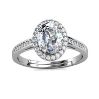La Reine Ring - Cincin Moissanite diamond Celesta by Her Jewellery