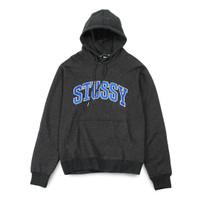 Stussy Arch Applique Hoodie Heather Dark Grey - M