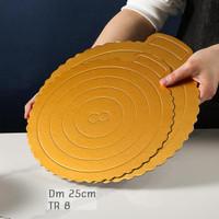 TATAKAN KUE TART CAKE BOARD BULAT DIAMETER 25cm