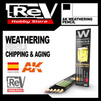 WEATHERING PENCIL CHIPPING AGING AK MODELKIT MILITARY